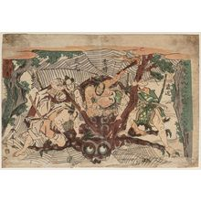 Katsukawa Shuntei: Defeat of the Earth Spider (Tsuchigumo) - Museum of Fine Arts
