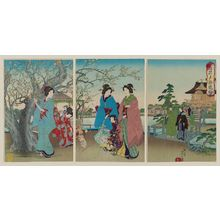 Watanabe Nobukazu: The Sleeping Dragon Plum Tree at Kameido (Kameido Garyûbai) - Museum of Fine Arts