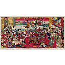 Toyohara Chikanobu: Flowering in the East: The Crown Prince at Play (Hana no azuma ôji on-asobi no zu) - Museum of Fine Arts