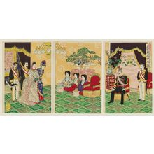 Watanabe Nobukazu: Wedding Ceremony of a Noble Couple (Kôi konreishiki no zu) - Museum of Fine Arts
