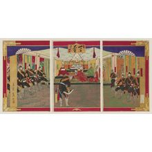 Mishima Shoso: Army and Navy Officers Having an Audience with the Emperor - ボストン美術館