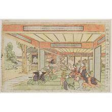 勝川春好: Act IV (Yodanme), from the series Perspective Pictures of the Storehouse of Loyal Retainers (Uki-e Chûshingura) - ボストン美術館