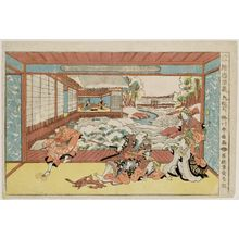 Katsukawa Shunko: Act IX (Kudanme), from the series Perspective Pictures of the Storehouse of Loyal Retainers (Uki-e Chûshingura) - Museum of Fine Arts