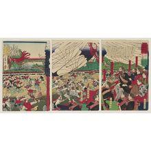 Kobayashi Toshimitsu: Illustration of Former President of the United States, Mr. Grant, Watching a Lance Training Exhibition at Ueno Park - Museum of Fine Arts