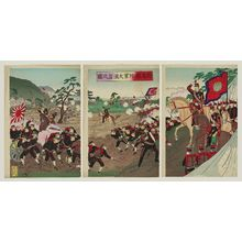 Watanabe Nobukazu: Illustration of Army Maneuvers in Gunma Prefecture (Gunma-ken rikugun dai enshû no zu) - Museum of Fine Arts
