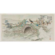 Toyokawa Yoshikuni: After Heavy Shelling, Our Forces Occupy the Fort of Dashiqiao (Waga gun kyôshûshite tekigun o hôgekishi Daisekkyô no kenrui o senryô su) - Museum of Fine Arts