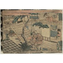 Utagawa Kuninao: Act VII (Shichidanme), from the series Perspective Pictures of the Storehouse of Loyal Retainers (Uki-e Chûshingura) - Museum of Fine Arts