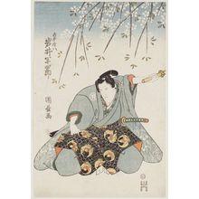 Utagawa Kunimasu: Actor Iwai Hanshirô as Shirai Gonpachi - Museum of Fine Arts