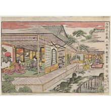 Utagawa Kuninao: Act II (Nidanme), from the series Perspective Pictures of the Storehouse of Loyal Retainers (Uki-e Chûshingura) - Museum of Fine Arts