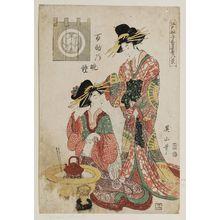 菊川英山: Hyakusuke no banshô, Edo sunago kôguya hakkei - ボストン美術館
