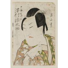 Kikugawa Eizan: Actor Sawamura Gennosuke as Jûrô Sukenari - Museum of Fine Arts