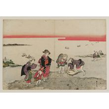 Kikugawa Eizan: Gathering Shellfish at Low Tide - Museum of Fine Arts