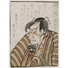 歌川国政: Actor Ichikawa Danjûrô VI, from the book Yakusha gakuya tsû (Actors in Their Dressing Rooms) - ボストン美術館