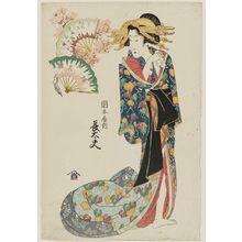 菊川英山: Chôdayû of the Okamotoya, from the series Array of Fashionable Beauties (Fûryû bijin soroe) - ボストン美術館