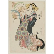 Kikugawa Eizan: Hanamurasaki of the Tamaya, from the series Array of Fashionable Beauties (Fûryû bijin soroe) - Museum of Fine Arts