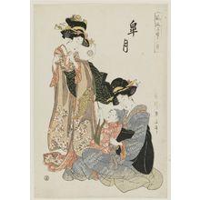 Kikugawa Eizan: The Fifth Month (Satsuki), from the series Fashionable Twelve Months of Precious Children (Fûryû kodakara jûni tsuki) - Museum of Fine Arts