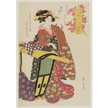 菊川英山: Kayoi Komachi, from the series Fashionable Beauties as the Seven Komachi (Fûryû bijin nana Komachi) - ボストン美術館
