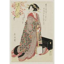菊川英山: Parrot Komachi (Ômu Komachi), from the series Fashionable Beauties as the Seven Komachi (Fûryû bijin nana Komachi) - ボストン美術館