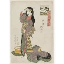 菊川英山: Tôi Tamagawa, from the series Fashionable Six Jewel Rivers (Fûryû Mu Tamagawa) - ボストン美術館