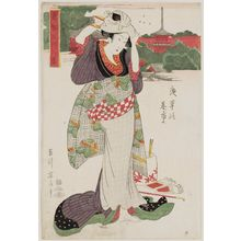 Kikugawa Eizan: Fair at Asakusa (Asakusa no ? no ichi), from the series Eight Views of Famous Places in the Eastern Capital (Tôto meisho hakkei) - Museum of Fine Arts