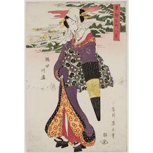 菊川英山: Snow on the Sumida River (Sumidagawa yuki), from the series Eight Views of Famous Places in the Eastern Capital (Tôto meisho hakkei) - ボストン美術館