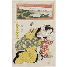 Kikugawa Eizan: Low Tide at Susaki (Susaki no shiohi), from the series Fashionable Eight Views of the Eastern Capital (Fûryû Tôto hakkei) - Museum of Fine Arts