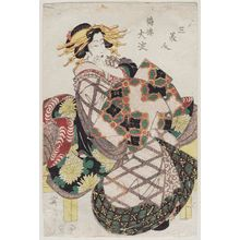Kikugawa Eizan: Ôyodo of the Tsuru-rô (=Tsuruya), from the series Three Beauties (San bijin) - Museum of Fine Arts
