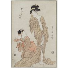 Kikugawa Eizan: After the Bath (Yuagari no zu) - Museum of Fine Arts