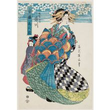 菊川英山: Somegawa of the Matsubaya, from the series Collection of Beauties of the Yoshiwara (Seirô bijin zoroe) - ボストン美術館