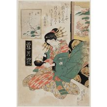 Keisai Eisen: Snow of Umewaka (Umewaka no yuki), from the series Snow, Moon, and Flowers (Setsugekka) - Museum of Fine Arts
