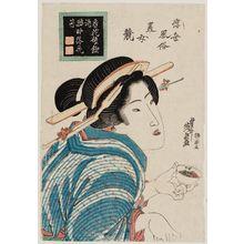 渓斉英泉: from the series Customs of the Floating World: A Contest of Beautiful Women (Ukiyo fûzoku bijo kurabe) - ボストン美術館