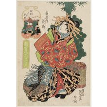 Keisai Eisen: The First Month, New Year Celebrations (Yôshun, shôgatsu nenrei): Hanaôgi of the Ôgiya, from the series Annual Events in the New Yoshiwara (Shin Yoshiwara nenjû gyôji) - Museum of Fine Arts
