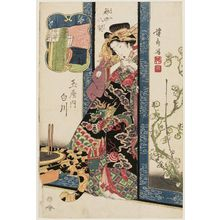 Keisai Eisen: Shirakawa of the Tamaya, from the series Eight Views of the Pleasure Quarters (Kuruwa hakkei) - Museum of Fine Arts