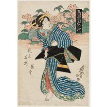 渓斉英泉: Blossoms on Asuka Hill (Asukayama no hana), from the series Matches for the Cherry Blossoms at Famous Places (Mitate meisho sakura tsukushi) - ボストン美術館