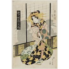 Keisai Eisen: Shiratama of the Tamaya, from the series Modern Customs of the Pleasure Quarters (Tôsei kuruwa fûzoku) - Museum of Fine Arts