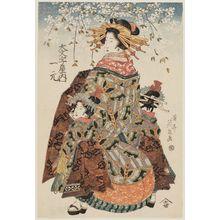 渓斉英泉: Hitomoto of the Daimonjiya - ボストン美術館