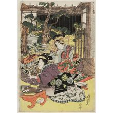 Keisai Eisen: Courtesans and Geisha at a Party - Museum of Fine Arts