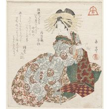 屋島岳亭: Edo: Courtesan of the Yoshiwara, from an untitled series of The Three Cities - ボストン美術館