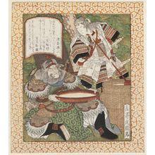 屋島岳亭: Tomoe Gozen and Fan Kuai - ボストン美術館