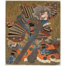 Yashima Gakutei: Asahina no Saburô, from the series A Set of Three Broken Doors (Haitatsu sanban) - Museum of Fine Arts