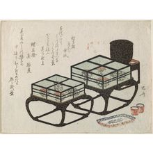 柳々居辰斎: Two Cases with Lacquerware - ボストン美術館