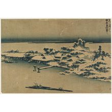 Keisai Eisen: Temple and village in snow - Museum of Fine Arts