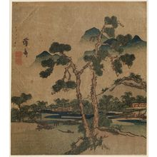 Keisai Eisen: Landscape with Pine Trees - Museum of Fine Arts