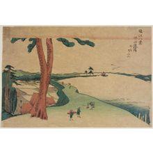 柳々居辰斎: Descending Geese at Katada (Katada rakugan), from the series Eight Views of Ômi (Ômi hakkei) - ボストン美術館