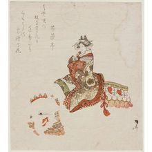 柳々居辰斎: Courtesan on White Elephant; Parody of the Nô Play Eguchi - ボストン美術館