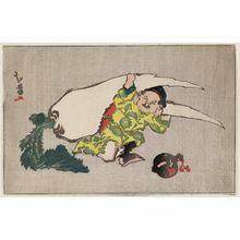 Katsushika Hokuga: Daikoku and Giant Radish - Museum of Fine Arts