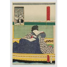 歌川国貞: Mokubô-ji, from the series One Hundred Beautiful Women at Famous Places in Edo (Edo meisho hyakunin bijo) - ボストン美術館