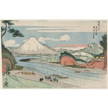 昇亭北壽: True Depiction of the Fuji River (Fujikawa shinsha no zu), from the series The Tôkaidô Road (Tôkaidô) - ボストン美術館