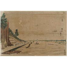 Shotei Hokuju: Scenery of Massaki on the Sumida River (Sumidagawa Massaki no fûkei) - Museum of Fine Arts