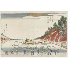 昇亭北壽: Shinobazu Pond and Benzaiten Shrine at the Foot of Tôeizan (Tôeizan fumoto Shinobazu ike Benzaiten zu) - ボストン美術館